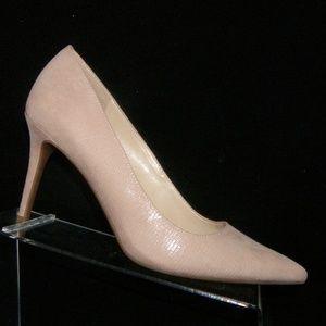 Jessica Simpson 'Laenie' pink leather heels 9M